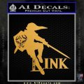 Link TXT Legend of Zelda Decal Sticker DZA Metallic Gold Vinyl 120x120