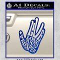 Live Long and Prosper Decal Sticker HTX Blue Vinyl 120x120
