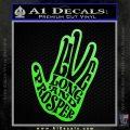 Live Long and Prosper Decal Sticker HTX Lime Green Vinyl 120x120