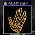 Live Long and Prosper Decal Sticker HTX Metallic Gold Vinyl 120x120