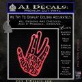 Live Long and Prosper Decal Sticker HTX Pink Vinyl Emblem 120x120