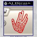 Live Long and Prosper Decal Sticker HTX Red Vinyl 120x120