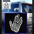 Live Long and Prosper Decal Sticker HTX White Emblem 120x120