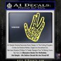 Live Long and Prosper Decal Sticker HTX Yelllow Vinyl 120x120