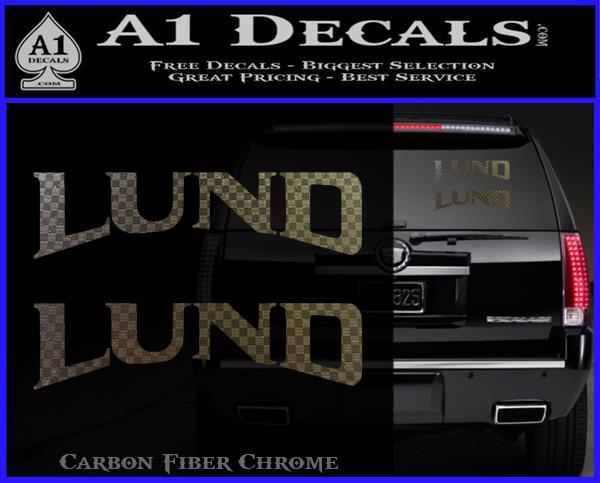Lund Boats Logo Vinyl Decal Sticker 2pk » A1 Decals