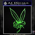 Marijuana Weed Peace Sign Decal Sticker Lime Green Vinyl 120x120