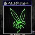 Marijuana Weed Peace Sign Decal Sticker Lime Green Vinyl 120x120