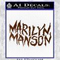 Marilyn Manson Rock Band TXT Decal Sticker Brown Vinyl 120x120