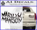 Marilyn Manson Rock Band TXT Decal Sticker Carbon Fiber Black 120x97