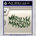 Marilyn Manson Rock Band TXT Decal Sticker Dark Green Vinyl 120x120