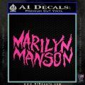 Marilyn Manson Rock Band TXT Decal Sticker Hot Pink Vinyl 120x120