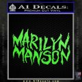 Marilyn Manson Rock Band TXT Decal Sticker Lime Green Vinyl 120x120