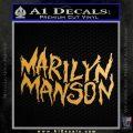 Marilyn Manson Rock Band TXT Decal Sticker Metallic Gold Vinyl 120x120
