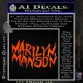 Marilyn Manson Rock Band TXT Decal Sticker Orange Vinyl Emblem 120x120