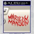 Marilyn Manson Rock Band TXT Decal Sticker Red Vinyl 120x120