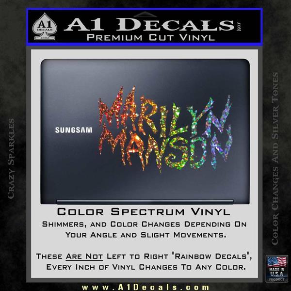 Marilyn Manson Rock Band Txt Decal Sticker 187 A1 Decals