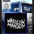 Marilyn Manson Rock Band TXT Decal Sticker White Emblem 120x120