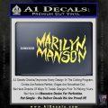 Marilyn Manson Rock Band TXT Decal Sticker Yelllow Vinyl 120x120