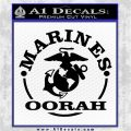 Marines oorah Decal Sticker Black Logo Emblem 120x120