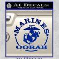 Marines oorah Decal Sticker Blue Vinyl 120x120