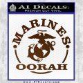 Marines oorah Decal Sticker Brown Vinyl 120x120
