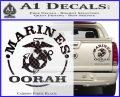 Marines oorah Decal Sticker Carbon Fiber Black 120x97