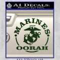 Marines oorah Decal Sticker Dark Green Vinyl 120x120