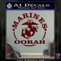Marines oorah Decal Sticker Dark Red Vinyl 120x120