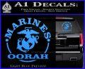 Marines oorah Decal Sticker Light Blue Vinyl 120x97