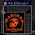 Marines oorah Decal Sticker Orange Vinyl Emblem 120x120
