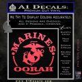 Marines oorah Decal Sticker Pink Vinyl Emblem 120x120