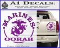 Marines oorah Decal Sticker Purple Vinyl 120x97