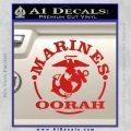 Marines oorah Decal Sticker Red Vinyl 120x120