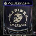 Marines oorah Decal Sticker Silver Vinyl 120x120