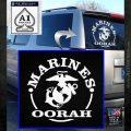 Marines oorah Decal Sticker White Emblem 120x120
