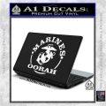 Marines oorah Decal Sticker White Vinyl Laptop 120x120