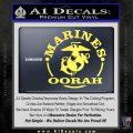 Marines oorah Decal Sticker Yelllow Vinyl 120x120