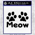 Meow Cats Paws Decal Sticker Black Vinyl 120x120