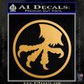 Microtech Knives Logo Decal Sticker Metallic Gold Vinyl 120x120
