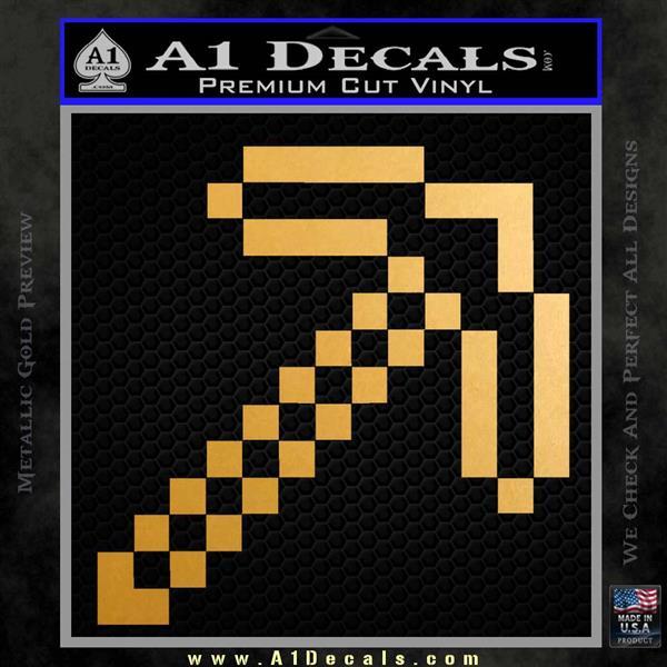 Minecraft Pickaxe Decal Sticker 187 A1 Decals