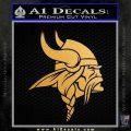 Minnesota Vikings NFL Logo Decal Sticker Metallic Gold Vinyl 120x120
