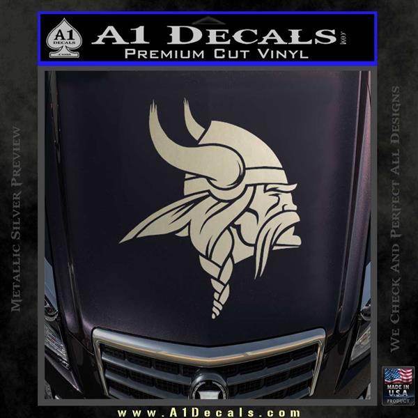 Minnesota vikings nfl logo decal sticker silver vinyl 120x120