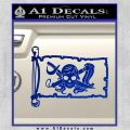Molly Roger Pirate Flag INT Decal Sticker Blue Vinyl 120x120
