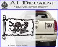 Molly Roger Pirate Flag INT Decal Sticker Carbon Fiber Black 120x97