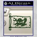 Molly Roger Pirate Flag INT Decal Sticker Dark Green Vinyl 120x120