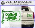 Molly Roger Pirate Flag INT Decal Sticker Green Vinyl 120x97