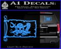 Molly Roger Pirate Flag INT Decal Sticker Light Blue Vinyl 120x97