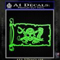Molly Roger Pirate Flag INT Decal Sticker Lime Green Vinyl 120x120