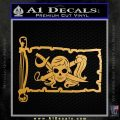 Molly Roger Pirate Flag INT Decal Sticker Metallic Gold Vinyl 120x120