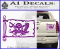 Molly Roger Pirate Flag INT Decal Sticker Purple Vinyl 120x97